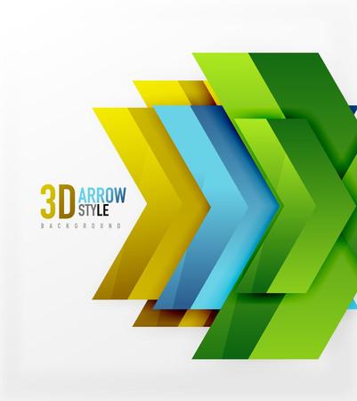 sci: Techno arrow background, vector template design