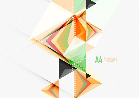 Triangular low poly vector a4 size geometric abstract template