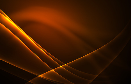light emission: Vector polar lights concept, glowig shapes in the dark, abstract background