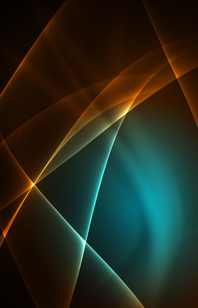 northern light: Vector polar lights concept, glowig shapes in the dark, abstract background