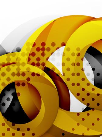 Circle background design Illustration