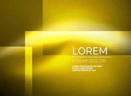 advertising material: Shiny yellow silk wave template, color satin with effects, vector abstract background