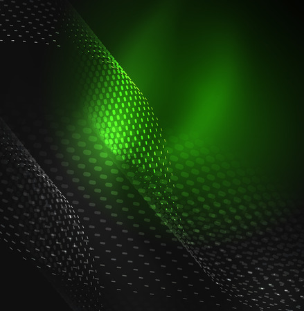 sinergia: Glowing particles wave design template