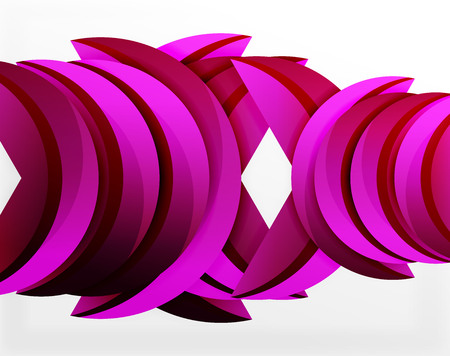 3D wave lines design. Dynamic effect abstract vector Illustration, modern pattern template