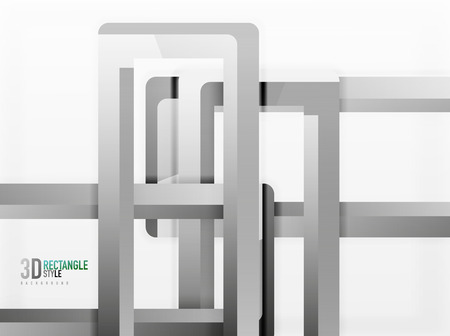 heap: Rectangle tube elements, vector background