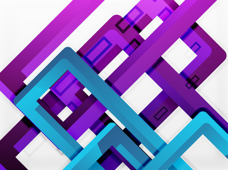 Rectangle tube elements, vector 3d background.