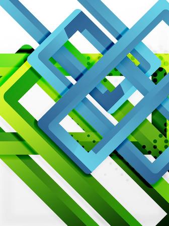 aluminum: Rectangle tube elements, vector 3d background.