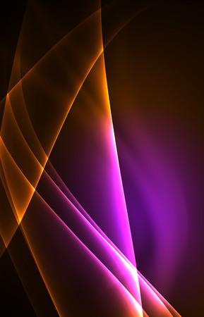 light emission: Vector polar lights concept background Illustration