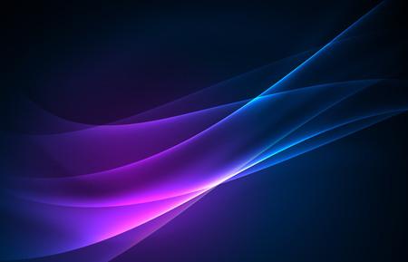Vector de luces polares concepto de fondo