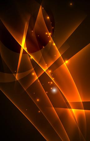 Vector polar lights concept background Illusztráció