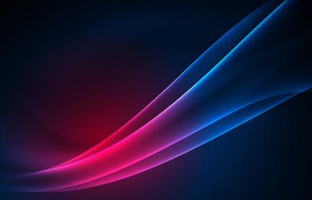 ベクトル極光概念、暗い、抽象的な背景の glowig 図形