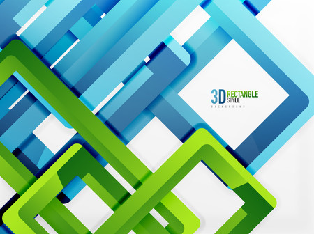 diminishing perspective: Rectangle tube elements, vector 3d background