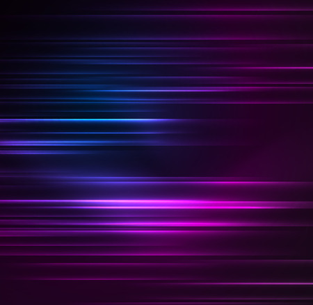 Glowing futuristic lines in the dark space with stars concept. Energy technology idea Stock Illustratie