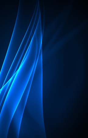 array: Vector polar lights concept, glowig shapes in the dark, abstract background