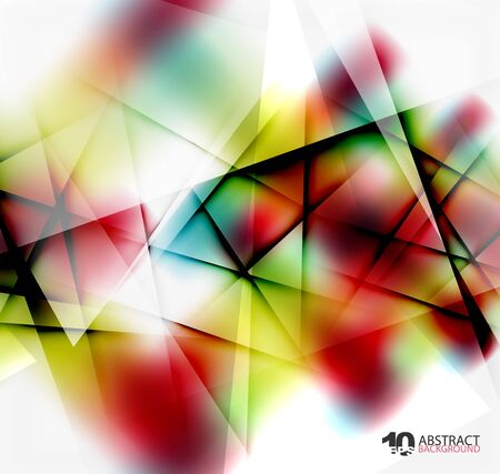 Hi-tech or business futuristic blurred template, blurred colors with shadow Illustration