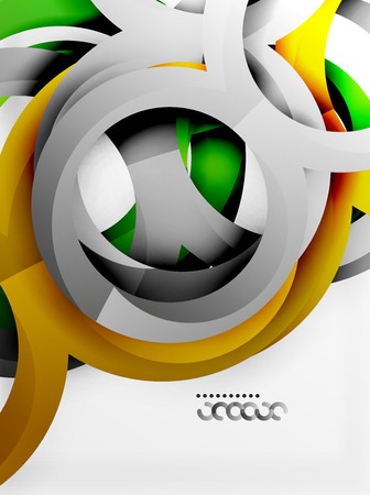 price development: Rings and swirls design.