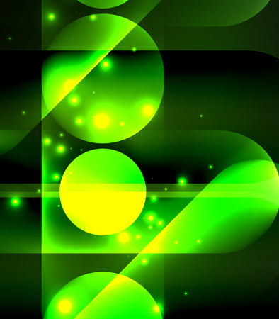 night table: Vector glowing geometric shapes background