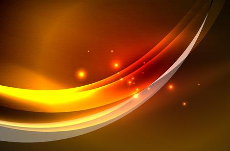 Vector glowing wave, smoke