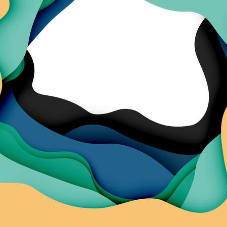 3D-vector abstracte achtergrond met gesneden vormen, bedrijfspresentatie, flyer-sjabloon Stock Illustratie