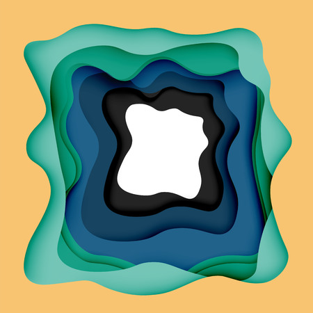 layered: 3d vector abstract background with cut shapes Illustration