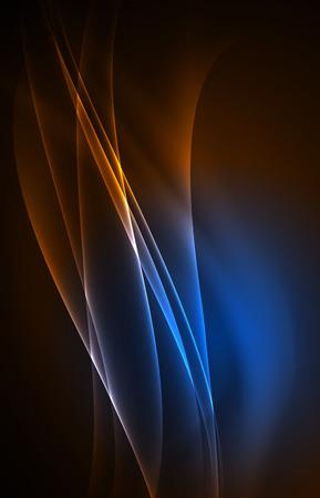 Vector polar lights concept background Illustration