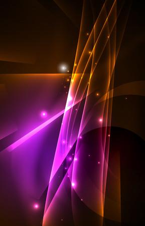 array: Vector polar lights concept background Illustration