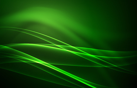 Vector polar lights concept, glowig shapes in the dark, abstract background