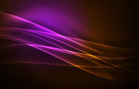 Vector polar lights concept background Ilustrace