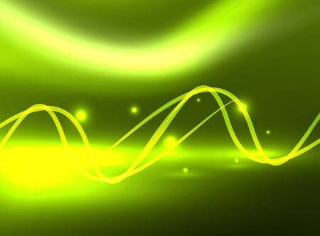 Glowing shiny wave background, vector energy concept illustration