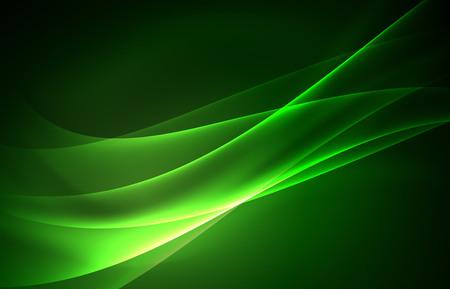 Vektor polar Lichter Konzept, glowig Formen in der Dunkelheit, abstrakten Hintergrund Standard-Bild - 81955135