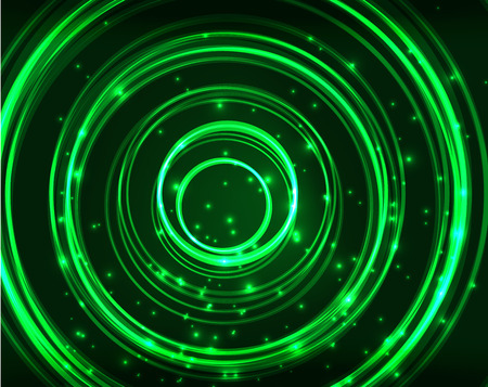 spinning: Neon green circles vector abstract pattern background