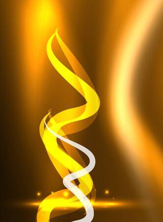 business graphics: Glowing shiny wave background Illustration