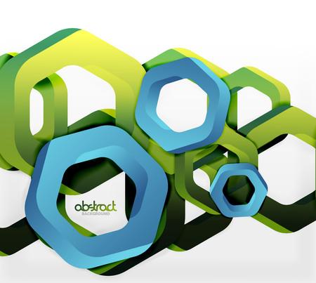 Overlapping hexagons design background Illustration