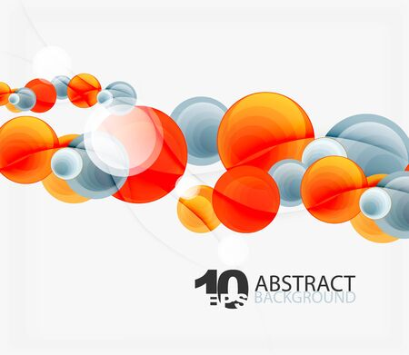 サークルのベクトルの背景、幾何学的抽象  イラスト・ベクター素材