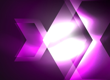 Digital technology glowing arrows, modern geometric abstract background with light effects and place for your message Illustration