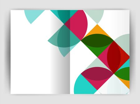 Abstract circle design business annual report print template. Illustration