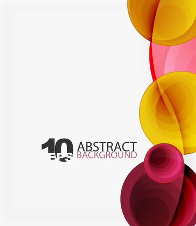 Circle vector background, geometric abstraction
