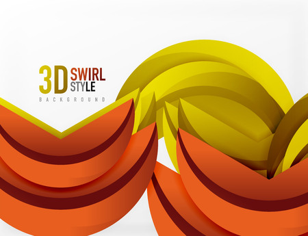 solid: 3D wave lines design. Dynamic effect abstract vector Illustration, modern pattern template