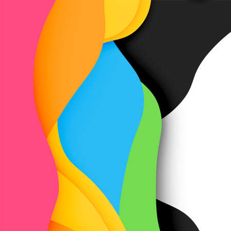 layered: 3d vector abstract background with cut shapes, business presentation, flyer template Illustration