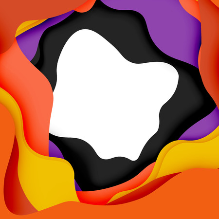 pit: 3d vector abstract background with cut shapes Illustration