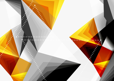A Vector low poly style 3d triangle line, a4 business or technology abstract template. Illustration