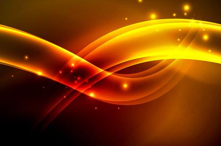 ベクトルの光る煙の波図。