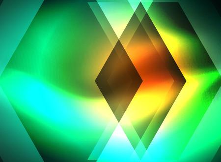 Digital technology glowing arrows illustration.