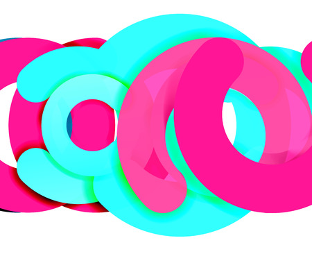 Circle geometric abstract, colorful business or technology design for web. Illustration