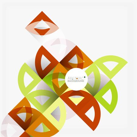 business graphics: Cut paper circles, mosaic mix geometric pattern design