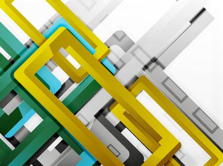 aluminum: Rectangle tube elements, vector 3d background