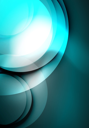 music: Vector digital illustration, glowing waves and circles Illustration