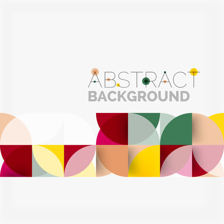 Modern geometrical circles abstract background Illustration