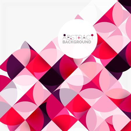 grid background: Modern geometrical abstract background circles