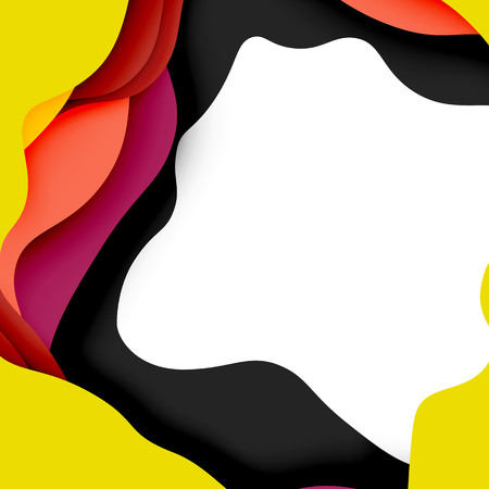 3d vector abstract background with cut shapes 向量圖像